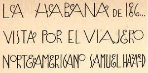 La Habana de 186...