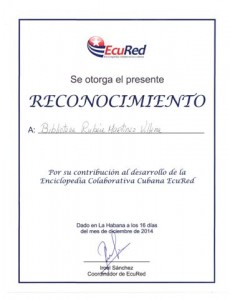 Certificado de ECURED
