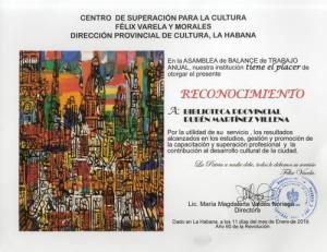 Reconocimiento del Centro Superacion 2019