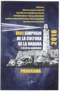Programa XXIII Simposio de la Cultura de La Habana